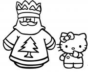 Printable coloring pages of santa claus and hello kittyb9d9 coloring pages