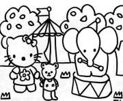 Printable hello kity in a circus 986e coloring pages