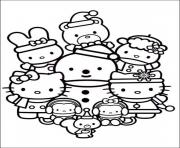 Printable hello kitty  christmas with friends7c0d coloring pages