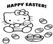 Printable hello kitty preschool s easter04e5 coloring pages