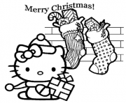 Printable hello kitty  christmas and gifts37ee coloring pages