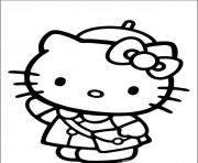 Printable hello kitty going to school 4e2a coloring pages