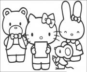 Printable hello kitty reading poem 800e coloring pages