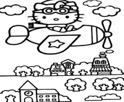 Print hello kitty s airplane1ca6 coloring pages