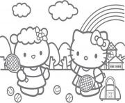 Print hello kitty tennis s0233 coloring pages