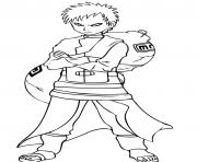 gaara of naruto scfcb coloring pages