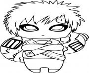 Printable Naruto S Cute Gaara3edd Coloring Pages