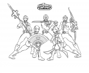 samurai power rangers s for boys31f9 coloring pages