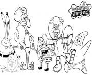 spongebob all characters coloring pagee6a5 coloring pages