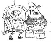 punk spongebob coloring page free7bb5 coloring pages