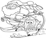 spongebob and santa s for kids printableee7f coloring pages