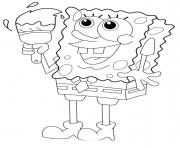 spongebob painting coloring paged51a coloring pages