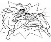 Printable superman punching coloring pagea494 coloring pages