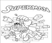 Printable superman punching wall coloring page00b5 coloring pages