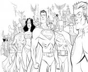 Printable all heroes including superman s for printe4af coloring pages