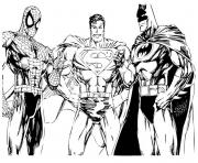 Printable spiderman and batman and superman 6484 coloring pages