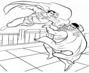 Printable superman fighting coloring page39c6 coloring pages