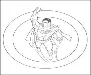 Printable superman in a circle coloring page5a20 coloring pages