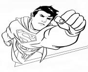 the superman flying in the sky free coloring page07a8 Coloring