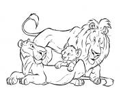 Print lion king family free sca18 coloring pages