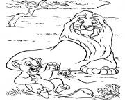 Printable simba and kiara 1ddf coloring pages