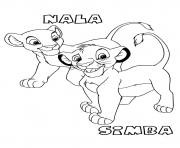Printable for kids lion king simba and nala3d97 coloring pages