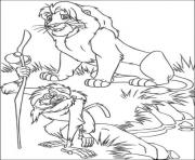 Print rafiki and adult simba 7794 coloring pages