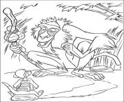 Printable rafiki and timon ae2a coloring pages