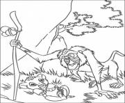 Printable rafiki and simba 5e8b coloring pages