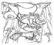 Printable pumbaa falls from cliff9121 coloring pages