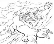 Printable scar falling from cliff 432e coloring pages