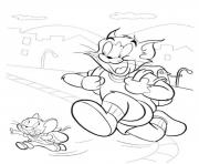 Printable tom and jerry going to school 3d62 coloring pages