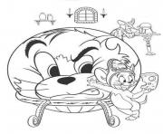 Printable tom and jerry with a wizard 5e7b coloring pages