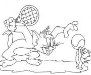 Printable tom and jerry playing tennis a5de coloring pages