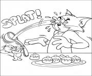 Print tom and jerry playing with cakesd0d7 coloring pages
