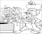 Print tom making pop corn 4abf coloring pages