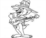 Printable toms singing and playing guitar f0e5 coloring pages