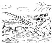 Print tom and jerry fishing fc55 coloring pages