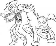 Print woody and bullseye cartoon s printable toy storya638 coloring pages