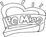 be mine valentines day s133f coloring pages
