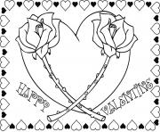 Printable valentines s adorable roses469b coloring pages