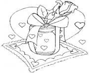 letter and rose valentines s473a coloring pages