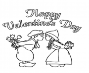 little kiss valentines day sb181 coloring pages