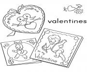 Printable lovely valentines day s496b coloring pages