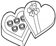 chocolate for valentine scf37 coloring pages