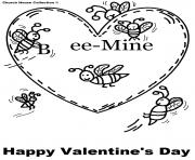 bee mine free valentines s0211
