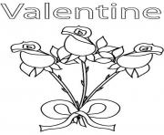 Printable valentine rose s3a4a coloring pages
