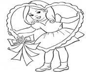 valentine s little girl9f4d coloring pages