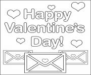 Printable letters for valentine sa4b2 coloring pages