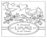 birds valentine 5121 coloring pages